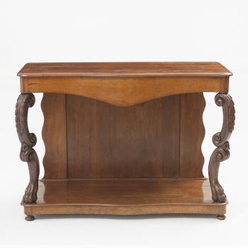 Consola en madera de caoba con decoración vegetal eb8602a8edc