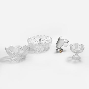 Ratán bandeja con vidrio capó y placa de vidrio de 29 x 23 cm impresiones Tableware